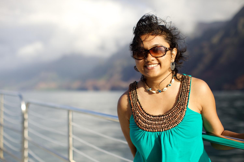 Cruising along Na Pali Coast @ Kauai, HI