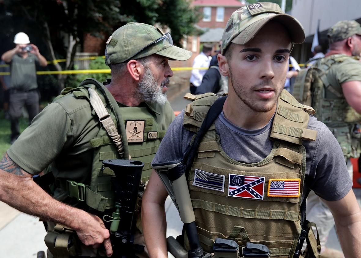 Democratie in Amerika: demonstreren in Charlottesville ter verdediging van 'blanke' rechten (Foto:Chip Somodevilla/Getty Images)