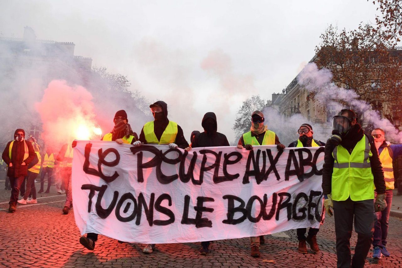 Protest of opstand? (Bron: AFP)