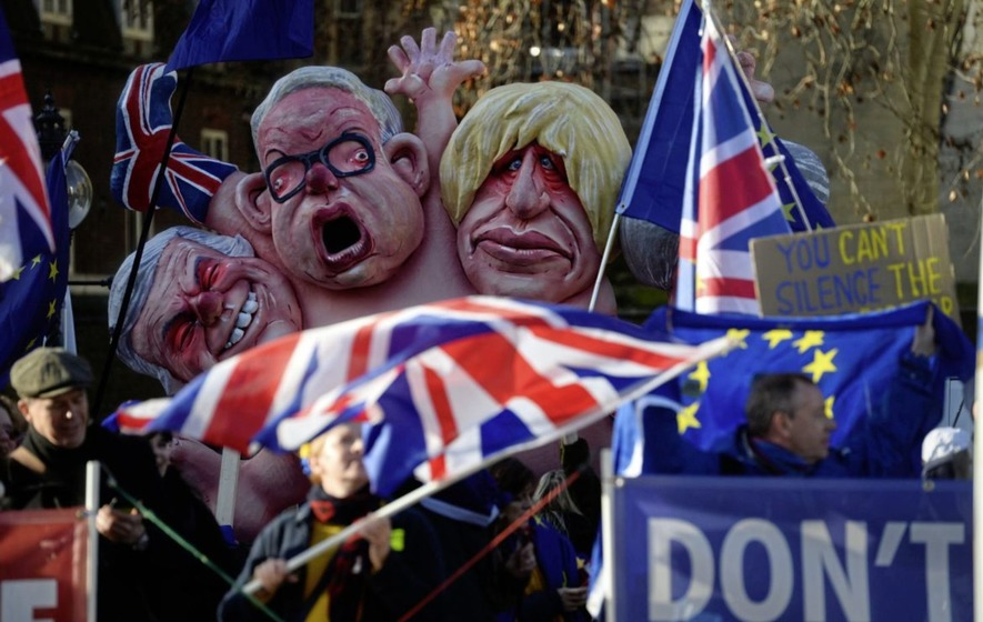 Parliament Square, London - January 15, 2019 (Irish Times/picture by Kirsty O'Connor/PA)