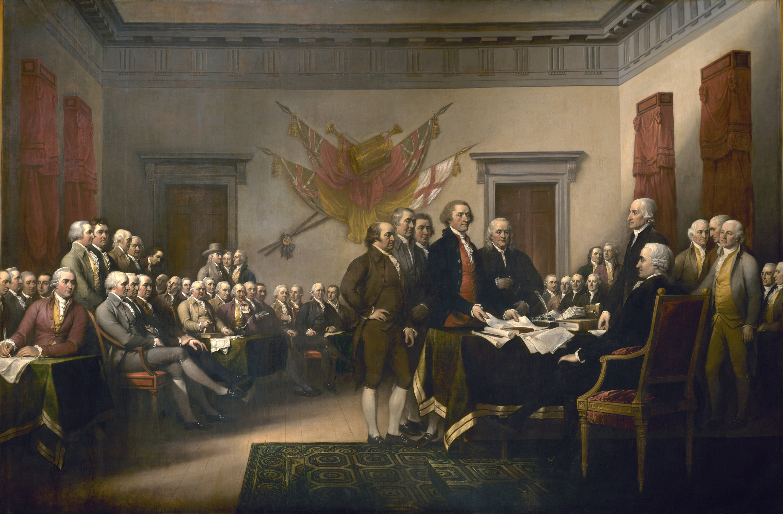 The Committee of Five present their work, June 1776 (John Trumbull, 1819)