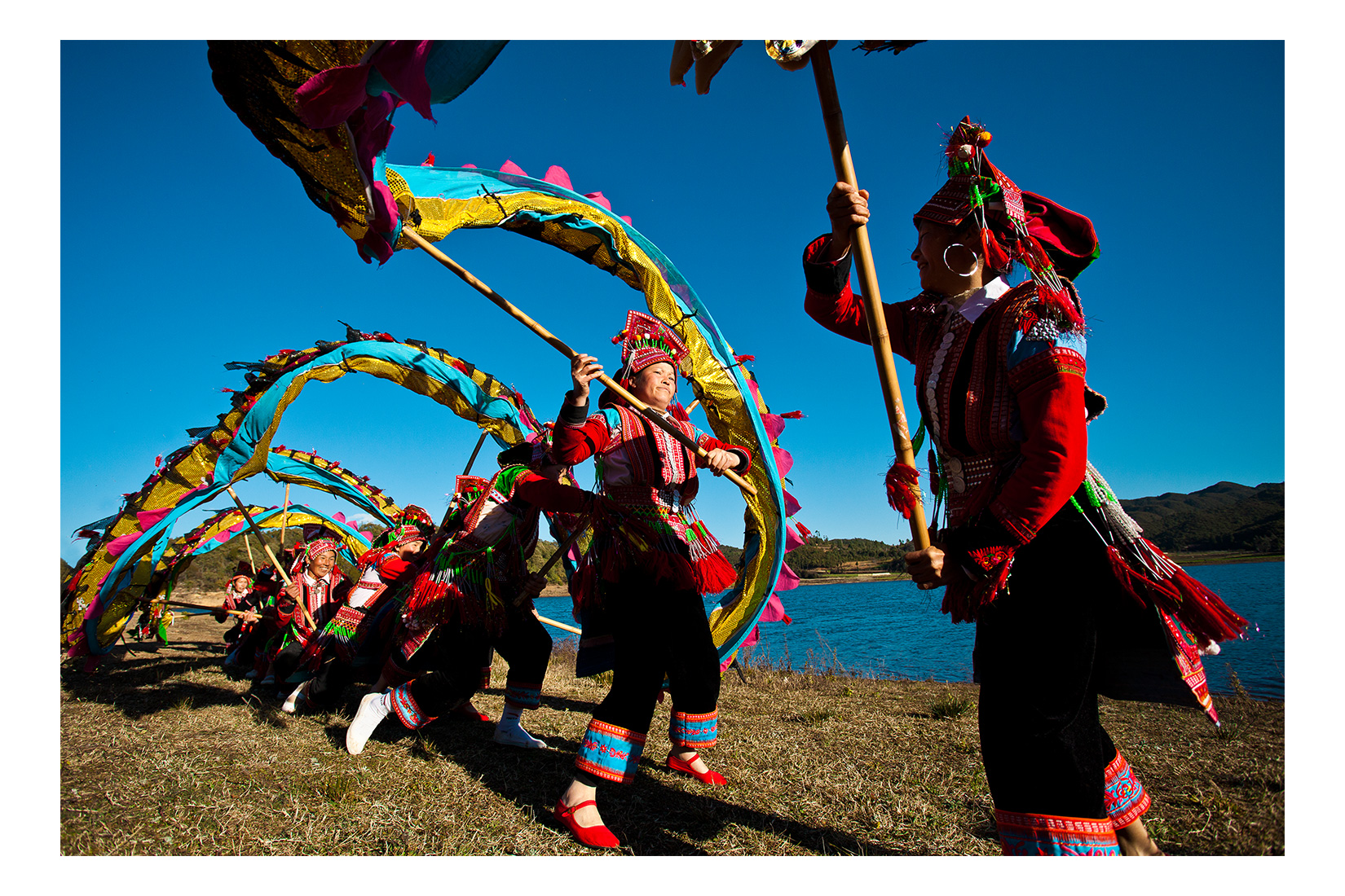 Dragon Dance. Yi Village, Yunnan Province, China