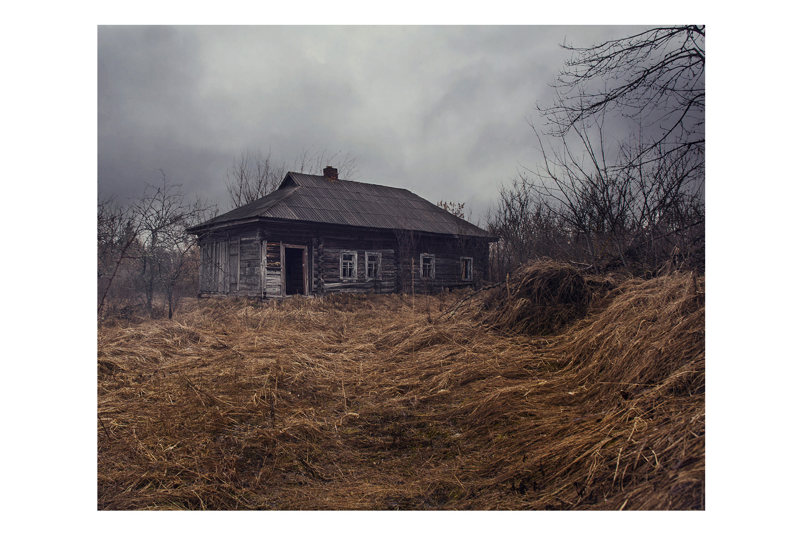 Parishev, abandoned village in Chernobyl exclusion zone. Ukraine