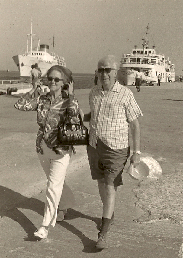 "The Luccheses — Genevieve (""Gammie"") and Sam — on the Greek island of Rhodes in the late 1960s."
