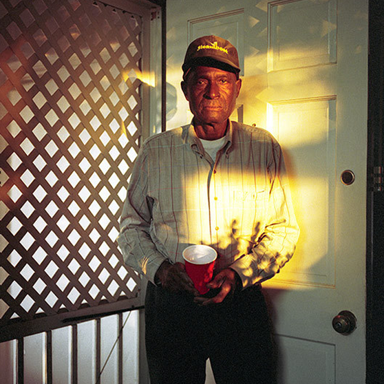 Portraits of, top to bottom, William Eggleston, Lizzie Flowers and Jab Flowers, by Maude Clay.