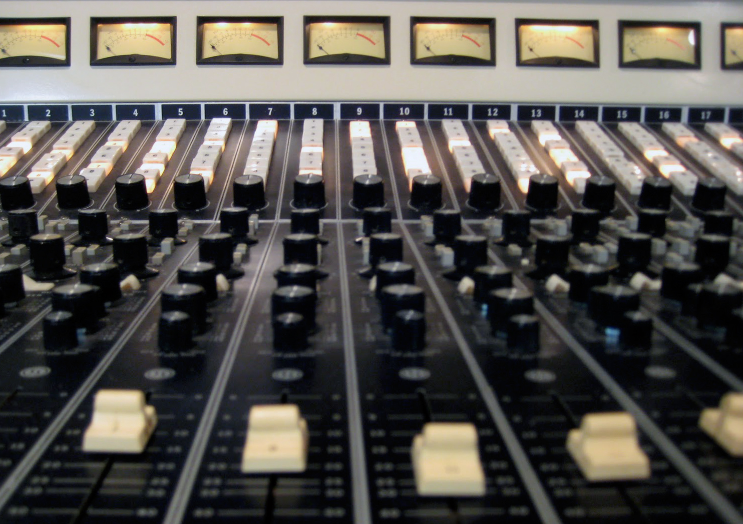 The Stax studio mixing board.  Photo by Patrick Foisy