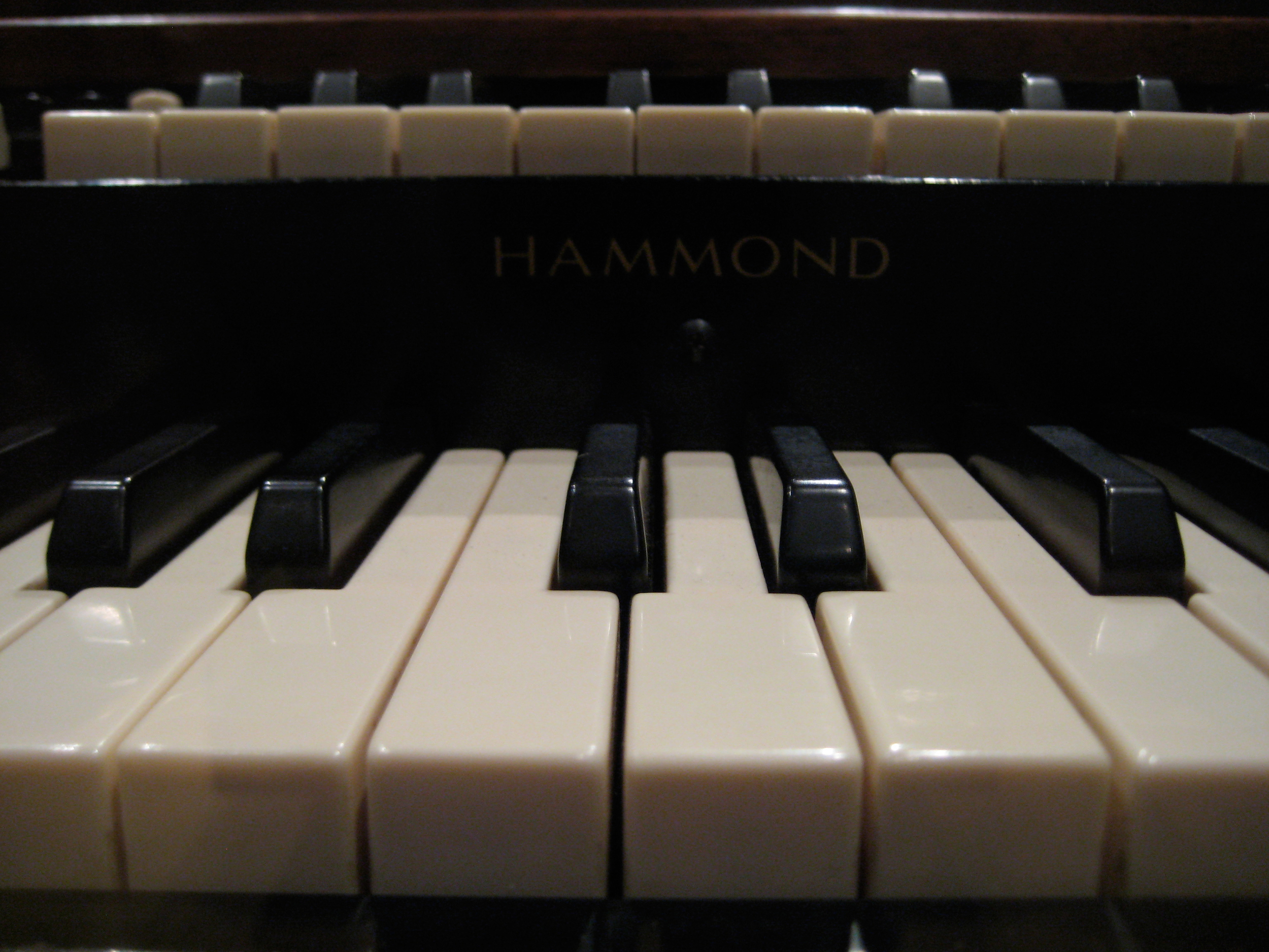 The keyboard of Booker T's Hammond B3 organ. Photo by Patrick Foisy.