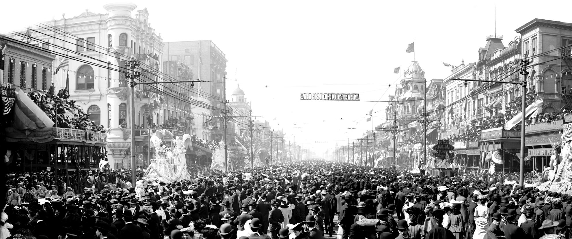 The Rex pageant, Mardi Gras Day, New Orleans, La., c 1907