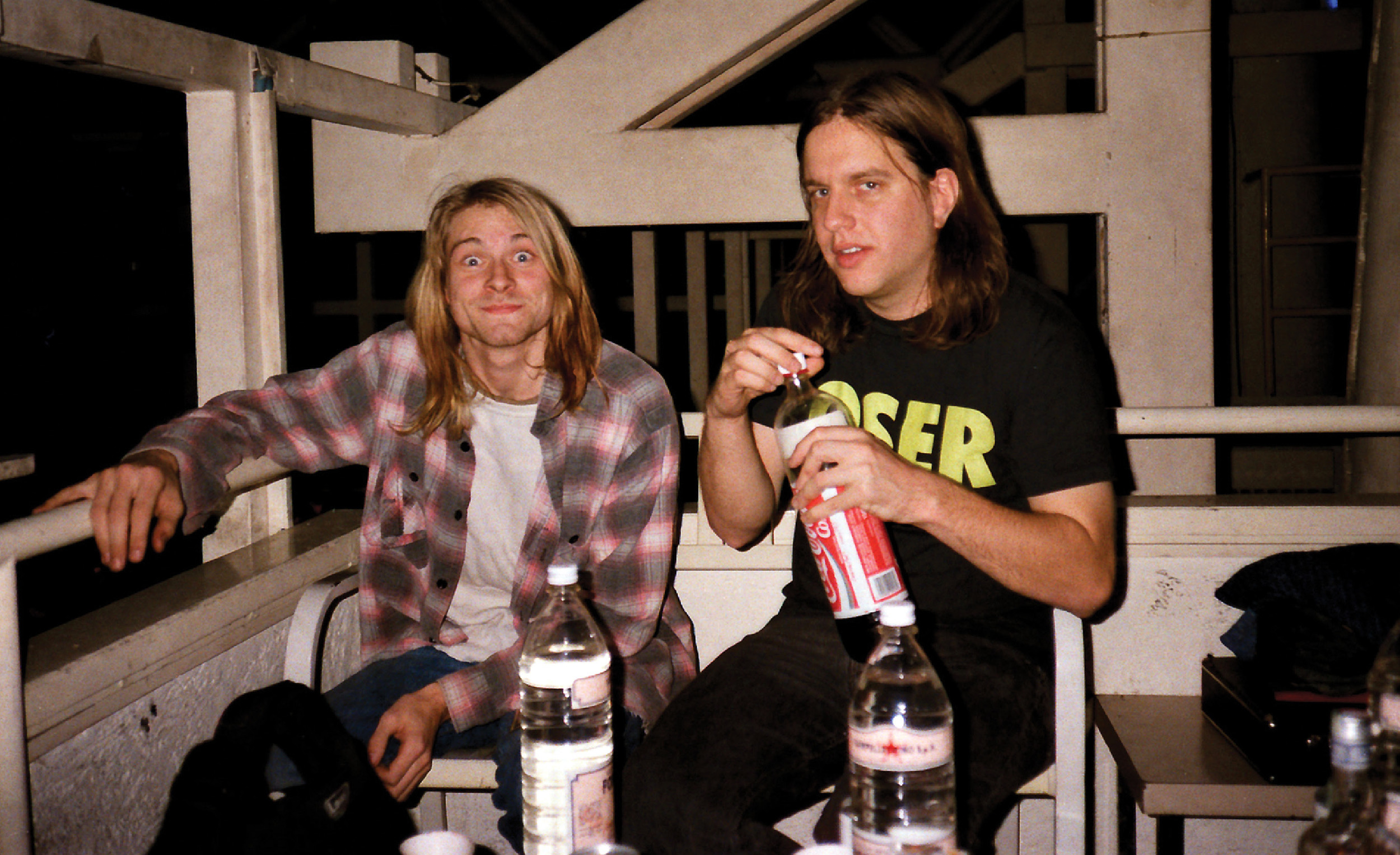 Kurt Cobain with Jonathan Poneman, 1989