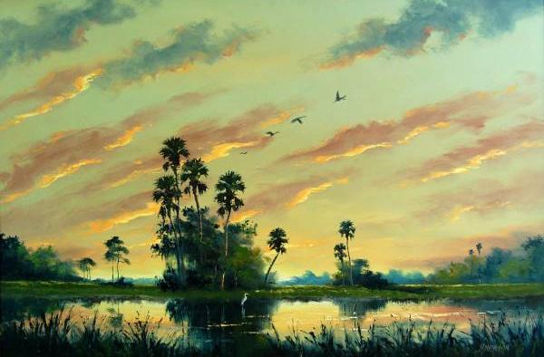Painting by  Florida Highwayman , Harold Newton