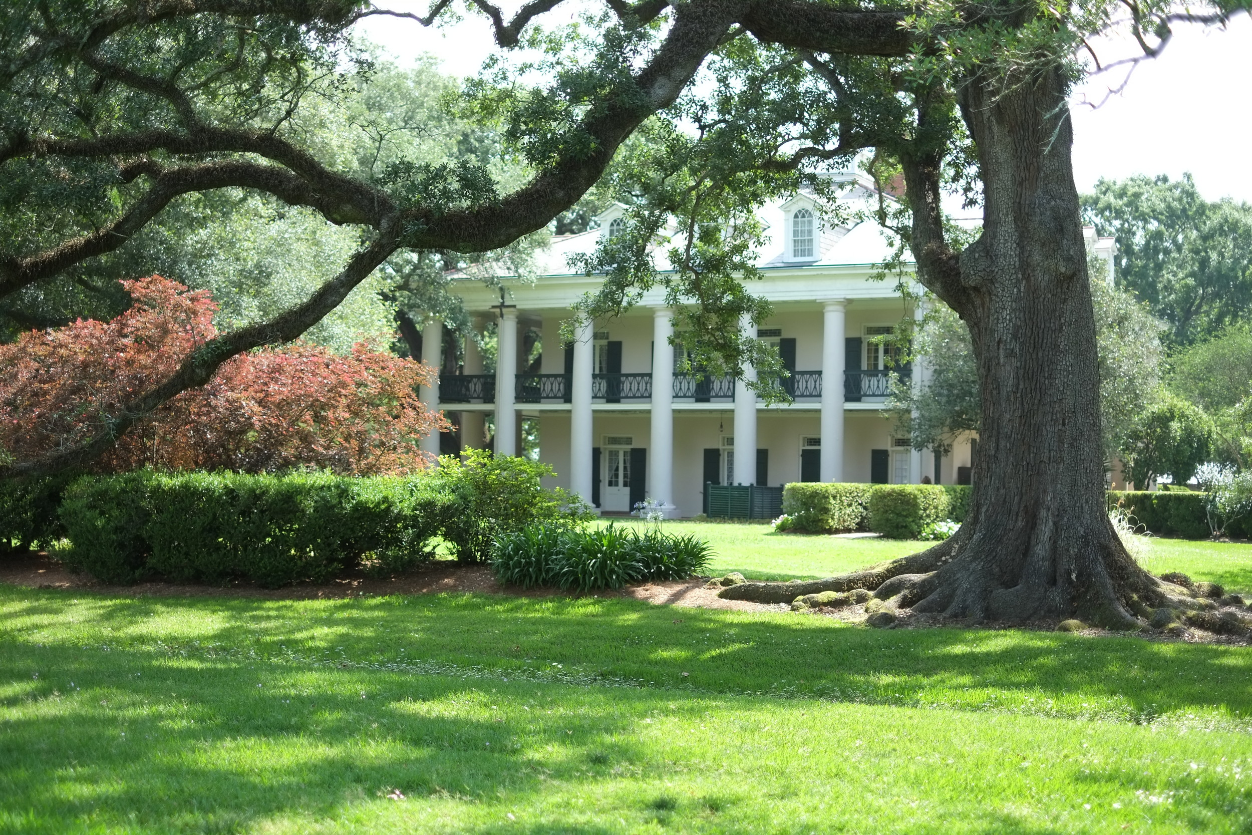 "Oak Alley Plantation in Vacherie, La., the former home of Valcour Aime, the ""King of Sugar."""