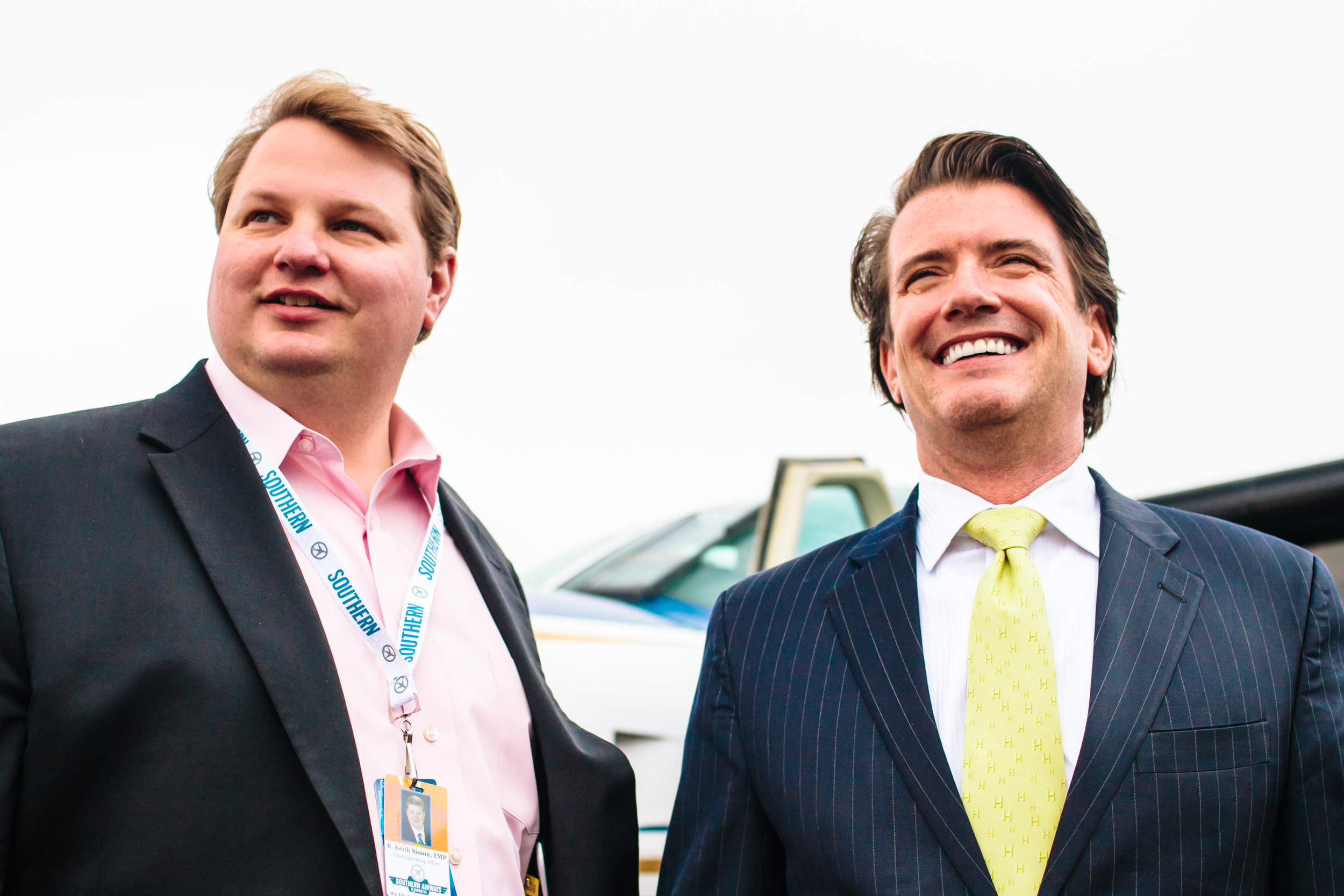 KEITH SISSON,COO, SOUTHERN AIRWAYS EXPRESS, AND STAN LITTLE, FOUNDER & CEO