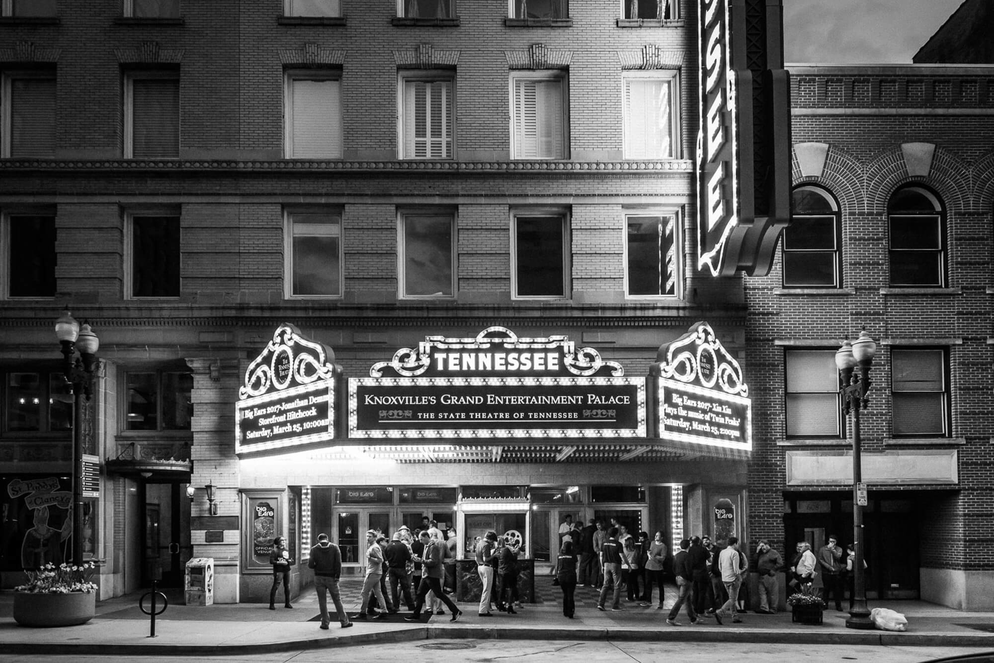 """The Tennessee theatre is a """"Grand Entertainment Palace"""" and has been for almost 100 years. Photo by David Simchock"""