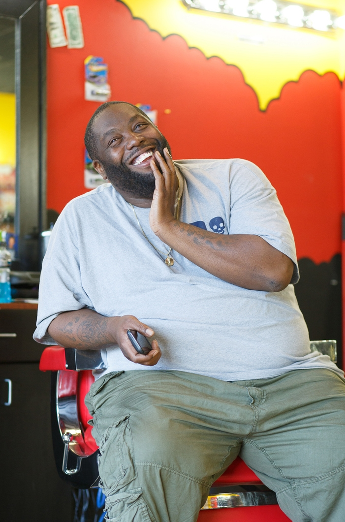 Killer Mike at the original S.w.a.g. shop - Photo by Troy stains