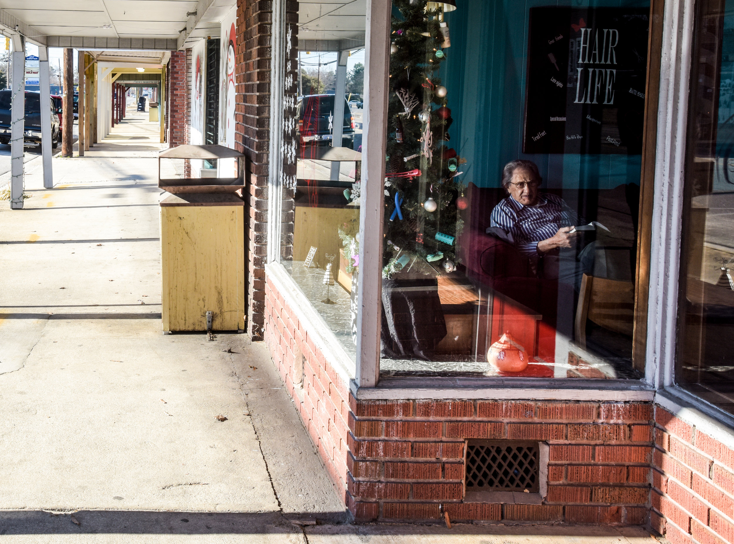 Third Street in Pembroke is home to a row of small businesses. Robeson County hopes the Atlantic Coast Pipeline will attract larger manufacturing companies and with them, jobs.