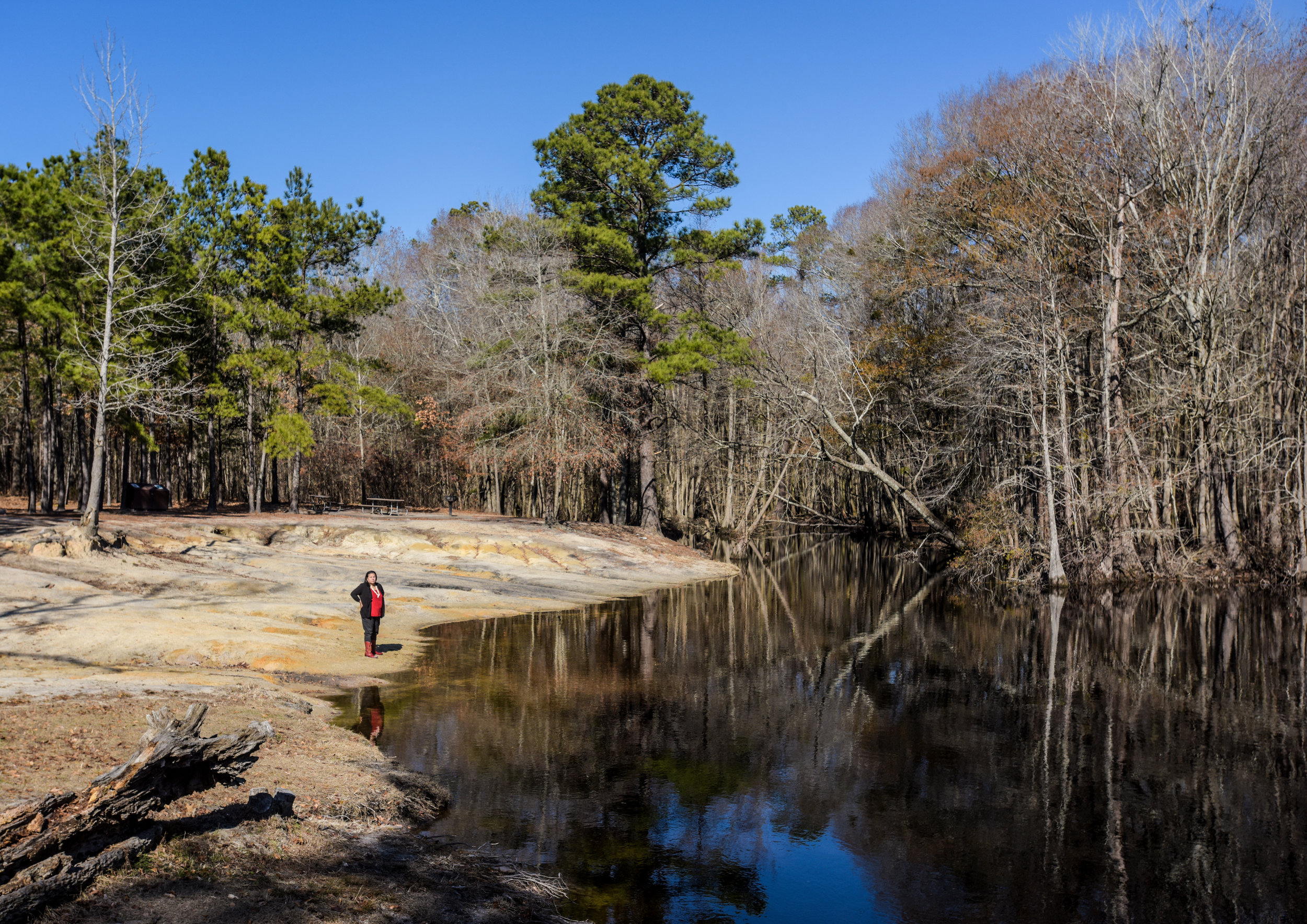 Chavis on the bank of the Lumber River, commonly called the Lumbee River.