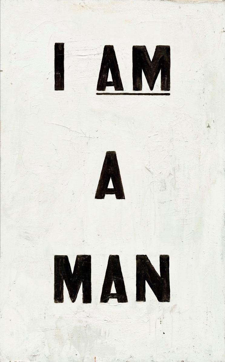 Untitled (I Am a man) by glenn ligon