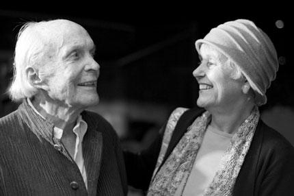 David Wolkowsky (left) and Sarah Benson, 2012. (Photograph by Nicholas Doll)