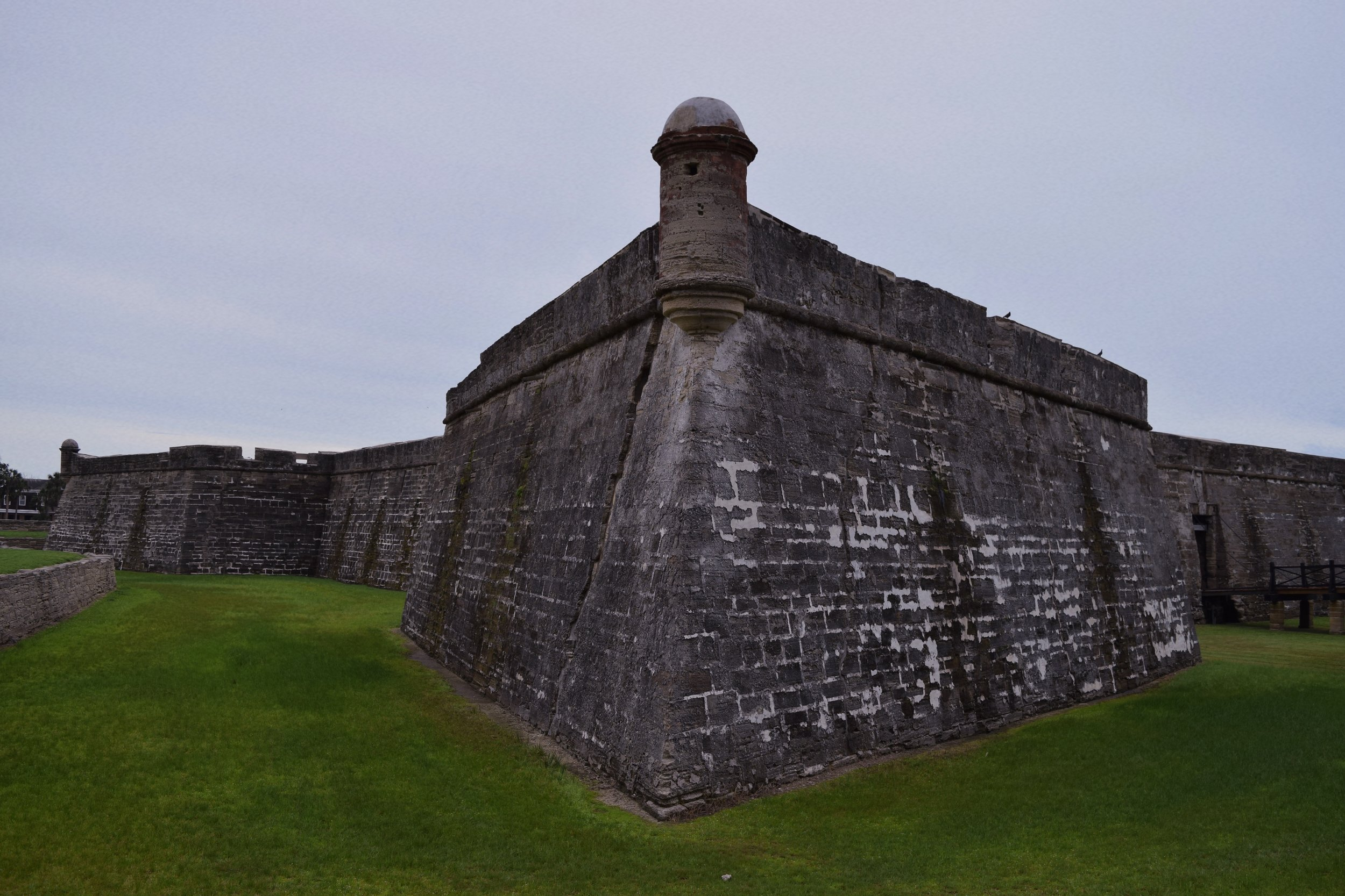 The throwing-star-shaped Castillo de San Marcos, the oldest masonry fort in the U.S. photo by  Jordan Blumetti
