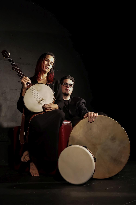 Rhiannon Giddens & Francesco Turrisi. [photo courtesy Karen fox]