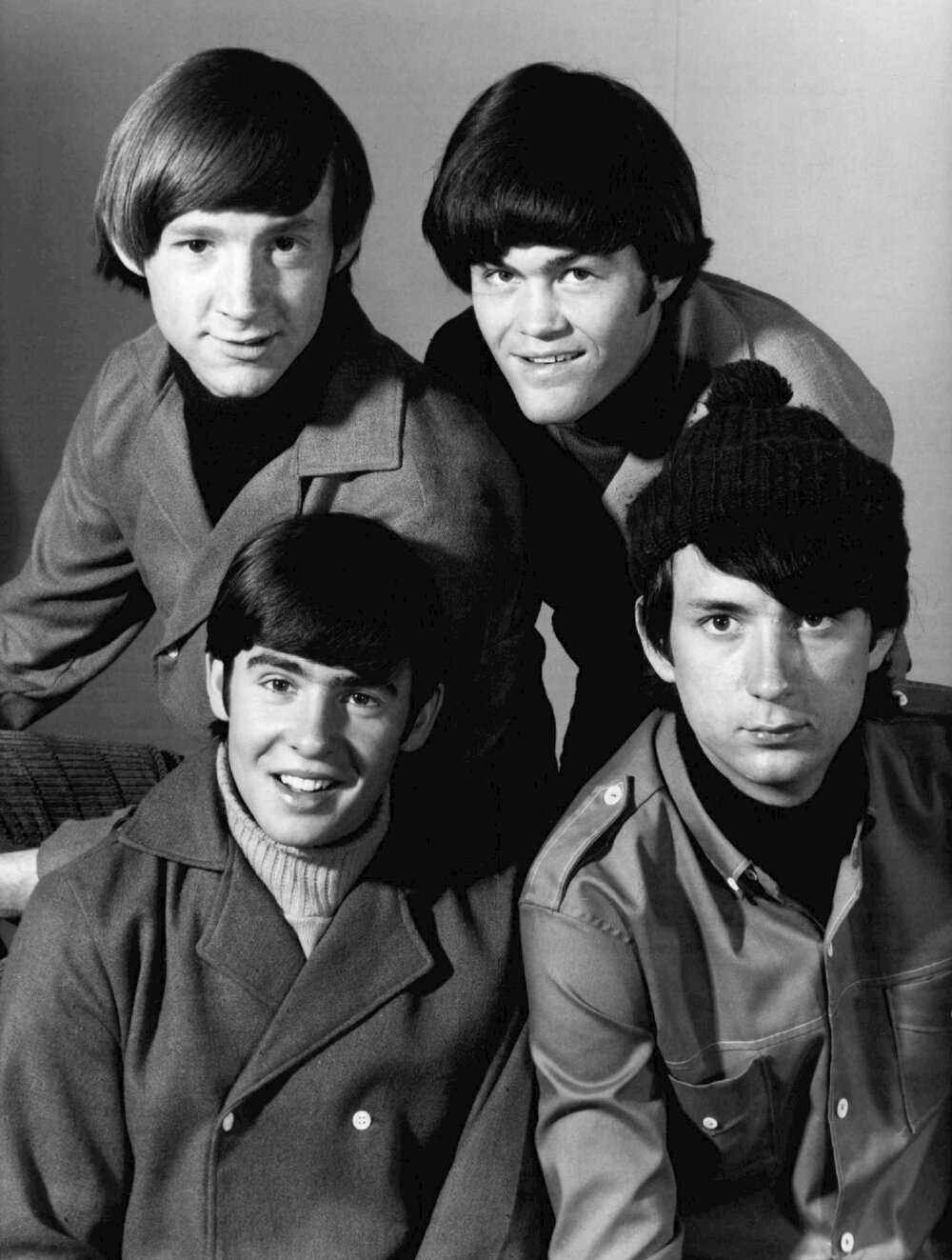 The Monkees in 1966 (Nesmith at bottom right)