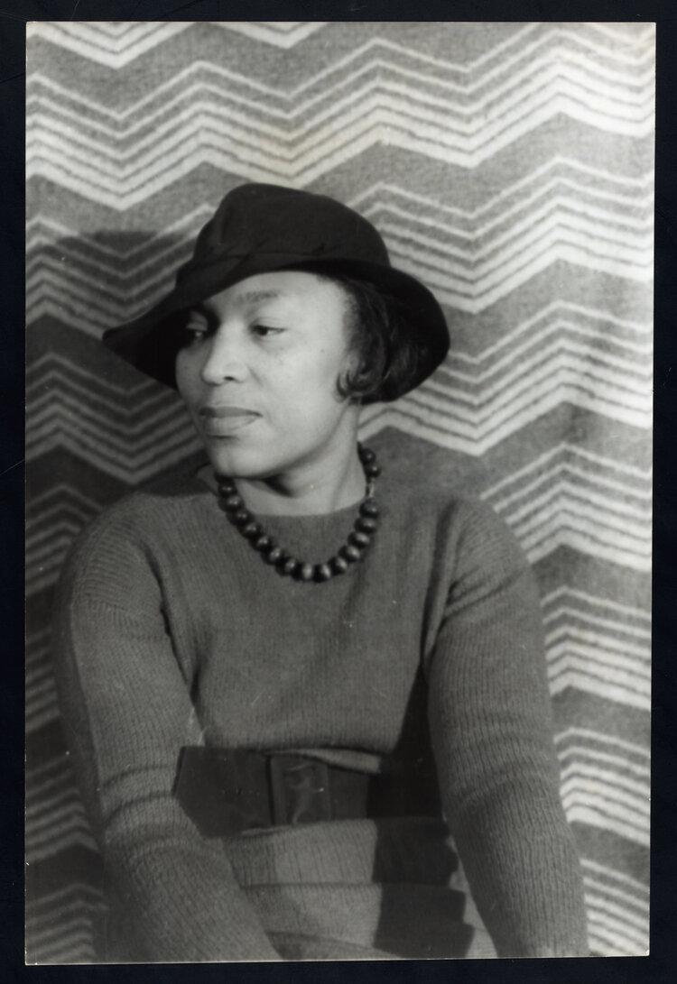 Portrait of Zora Neale Hurston by Carl Van Vechten in 1938, Courtesy of the University of Florida