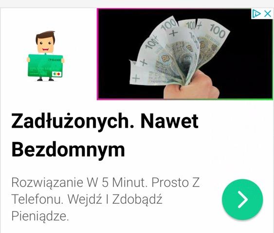 Reklama AdWords linkująca do strony Zanimalo.pl
