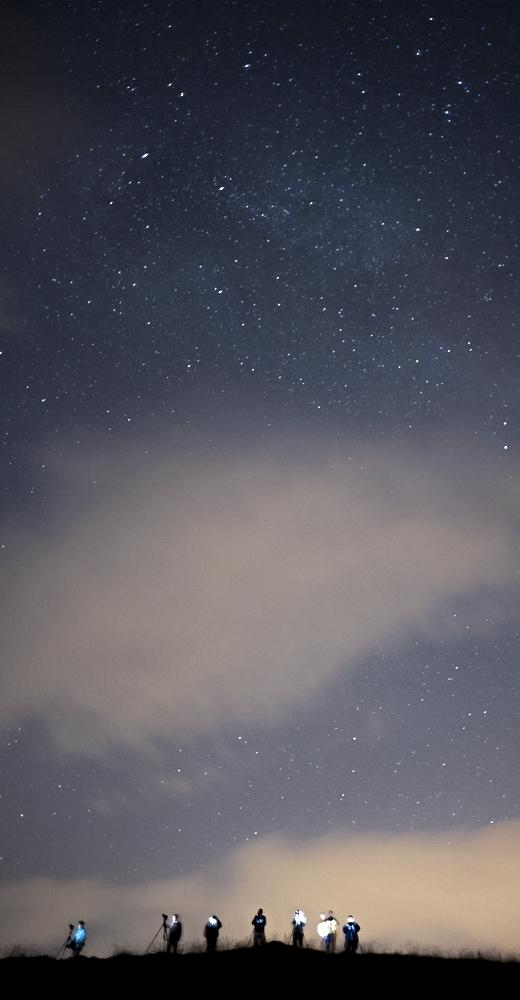 fotografi di notte sull'Appennino Tosco-Emiliano