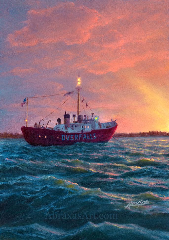 Overfalls at Sea