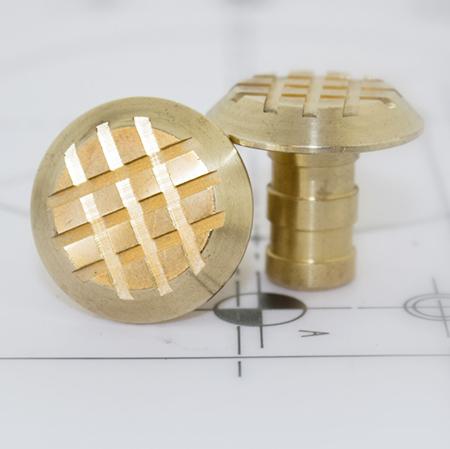 Brass Cross Grip Stud