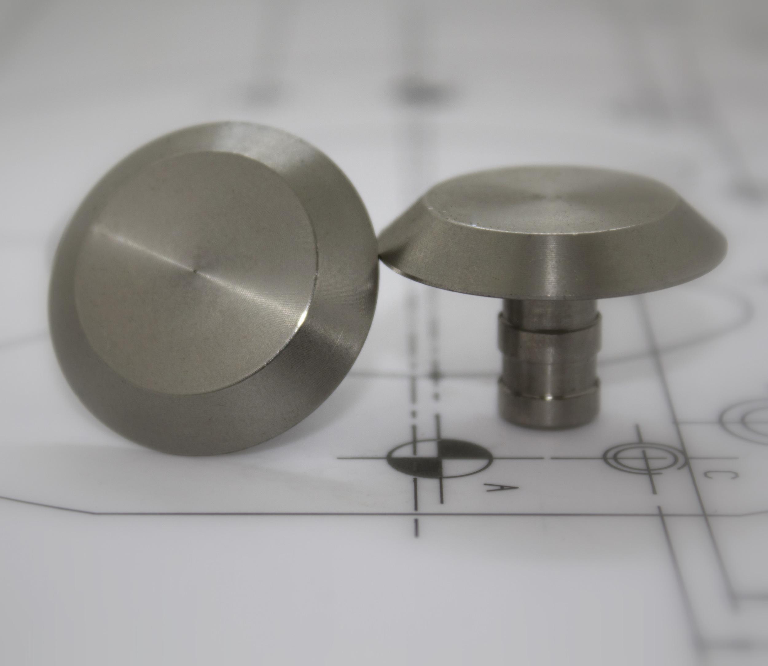 Stainless Steel 35mm Plain Stud
