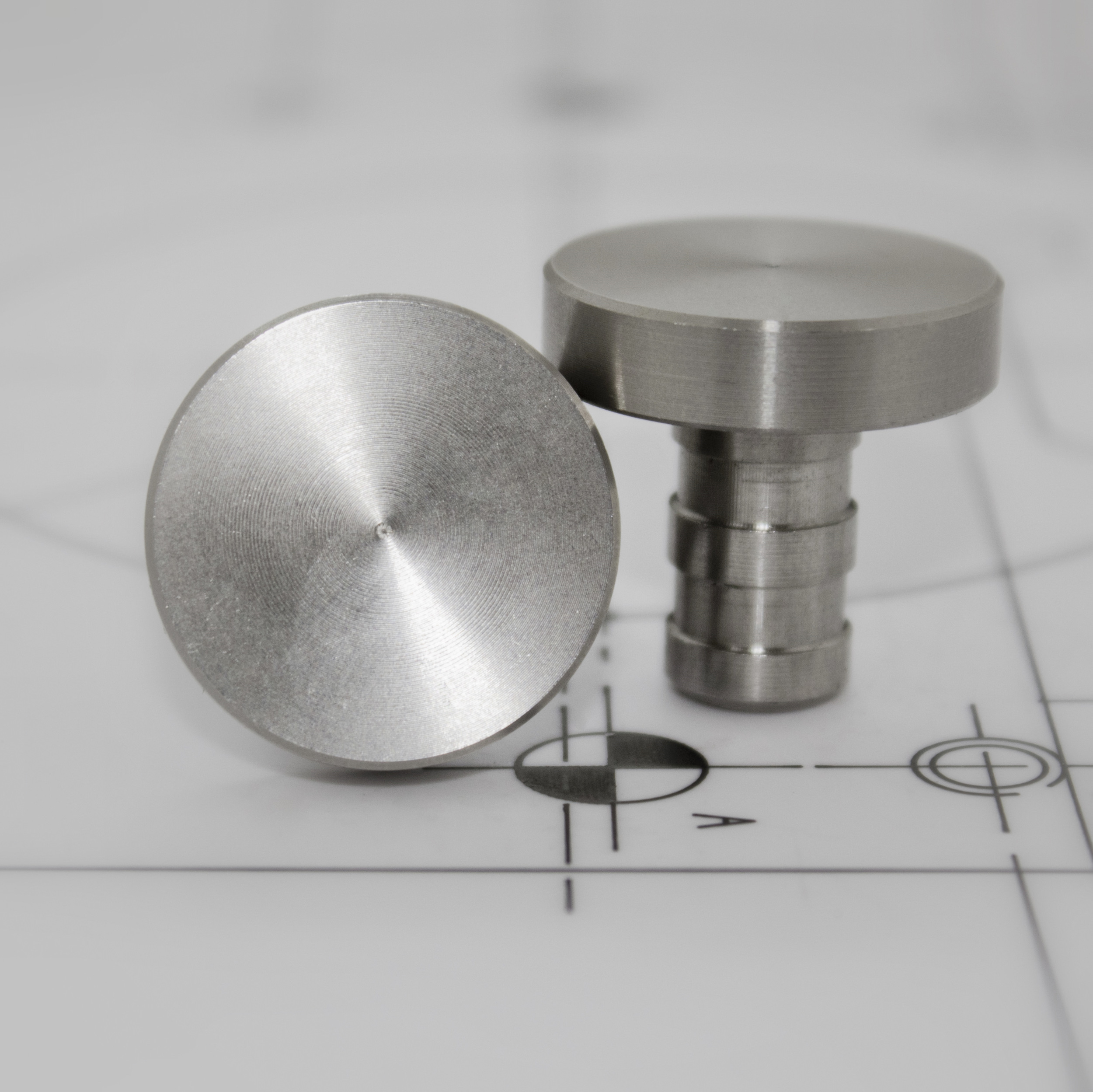 Stainless Steel 25mm Flush Sitted Stud FF256-PL