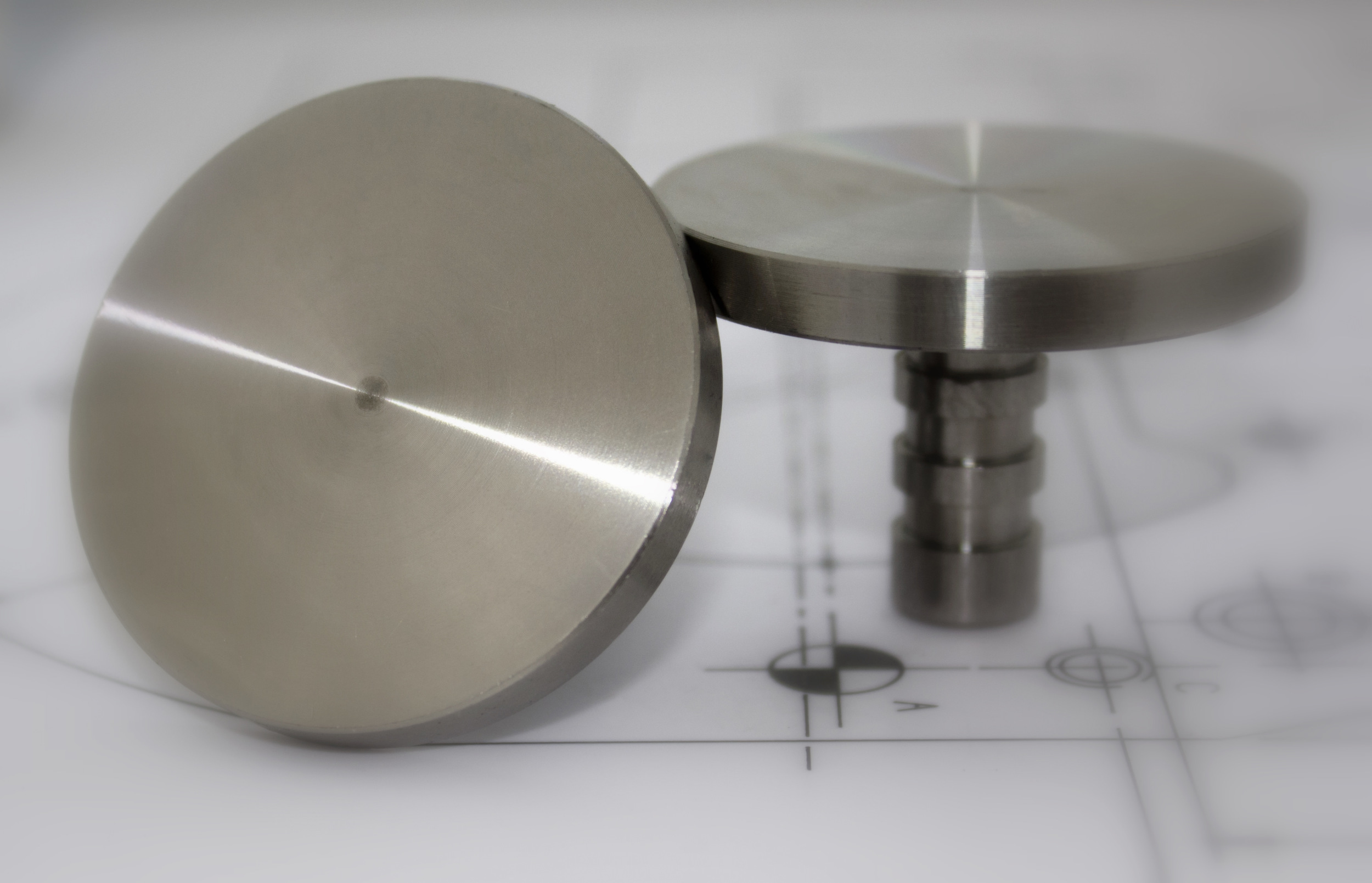 Stainless Steel 50mm Flush Fitted Stud FF506-PL