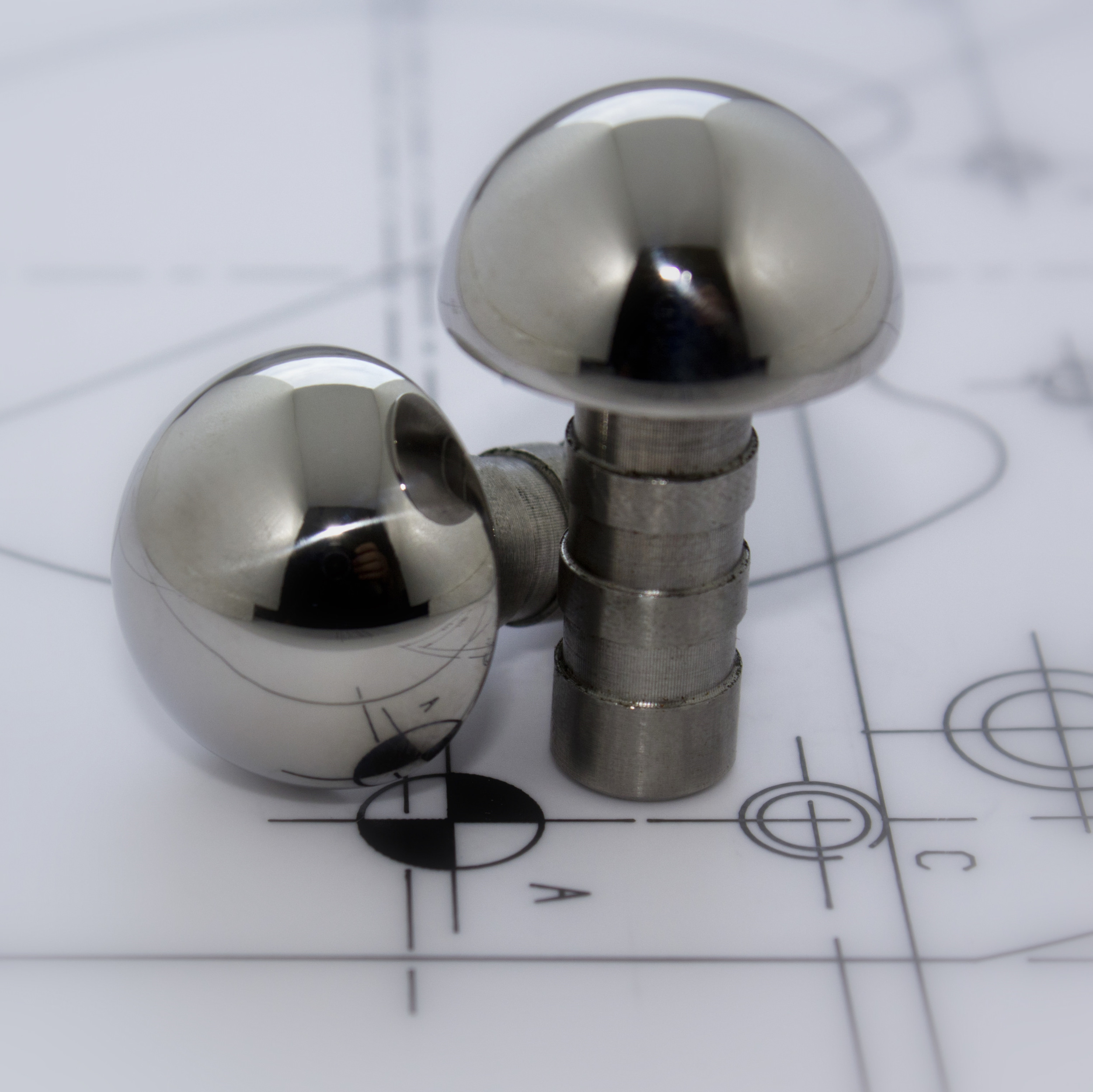 35 mm diameter half round skate stop HRSS-35