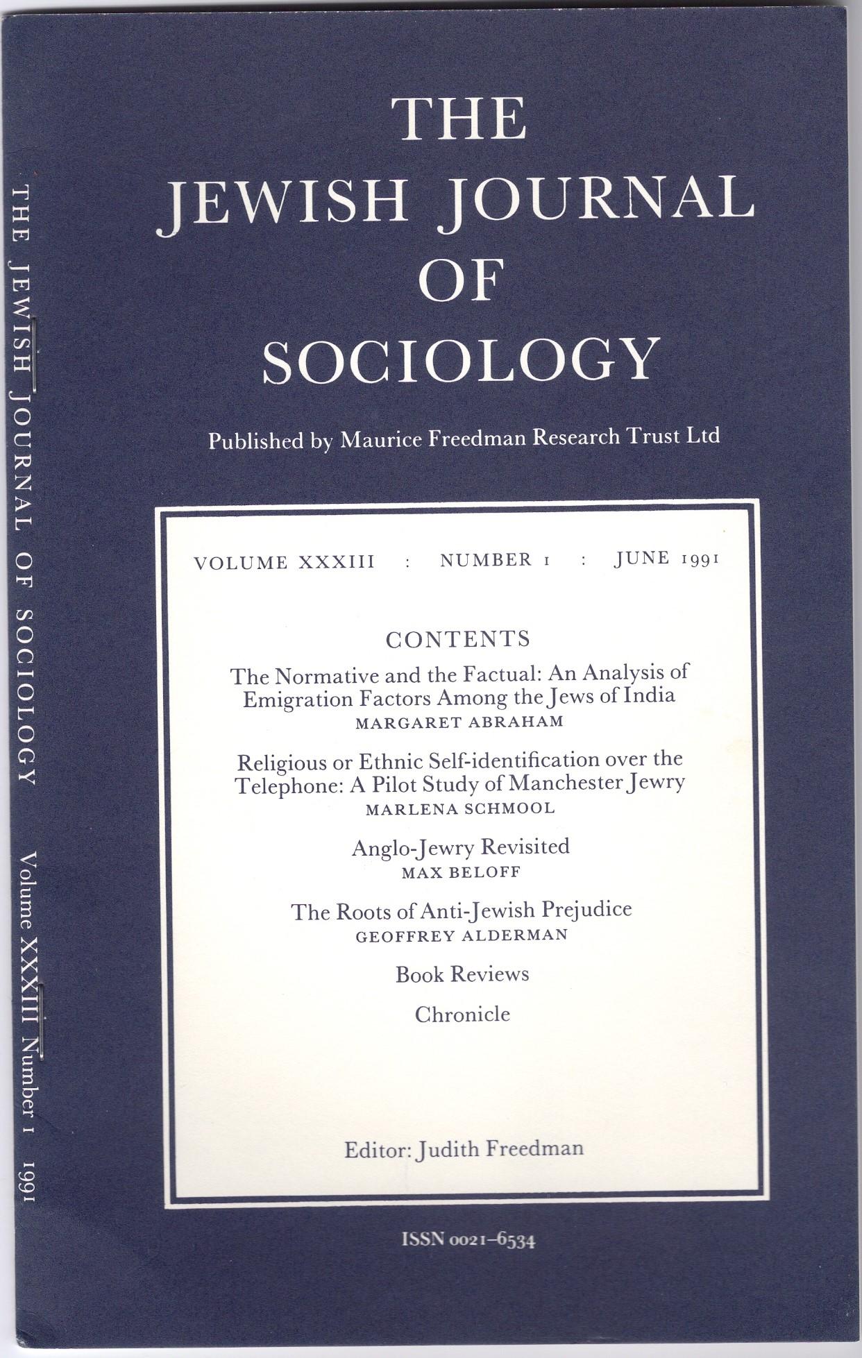 Jewish Journal of Sociology 1991.jpg
