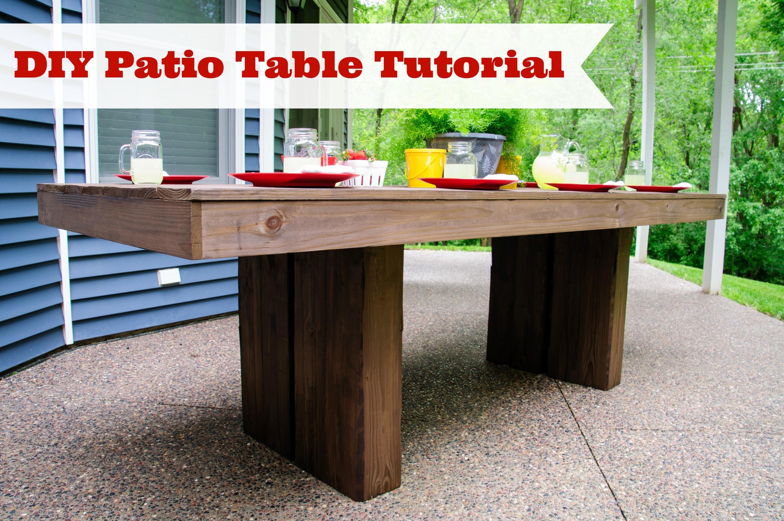 DIY Outdoor Patio Table