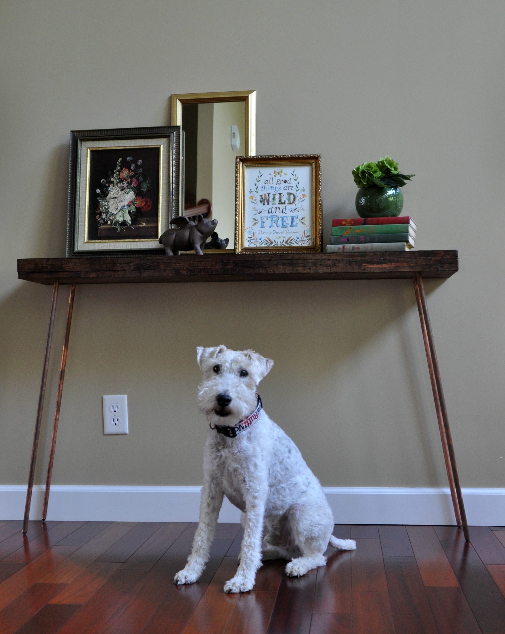 Console Table with Copper Legs Tutorial