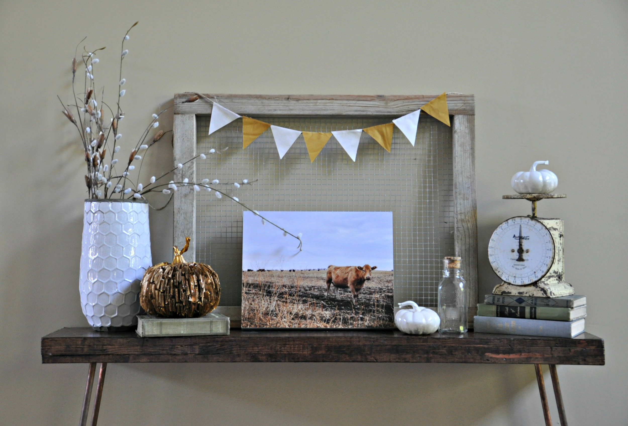 Fall Console Table 1 {Decor and the Dog}.jpg