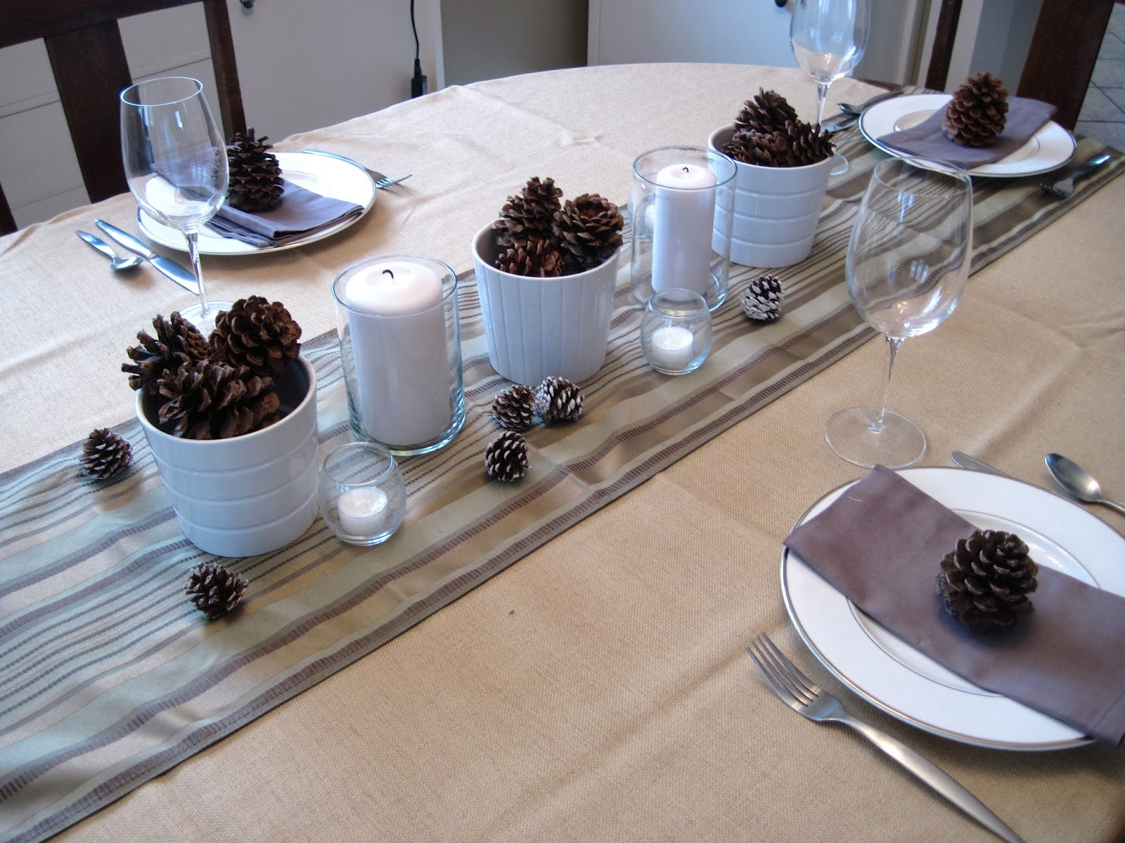 Beautifl Winter Tablescape from The Flipping Couple
