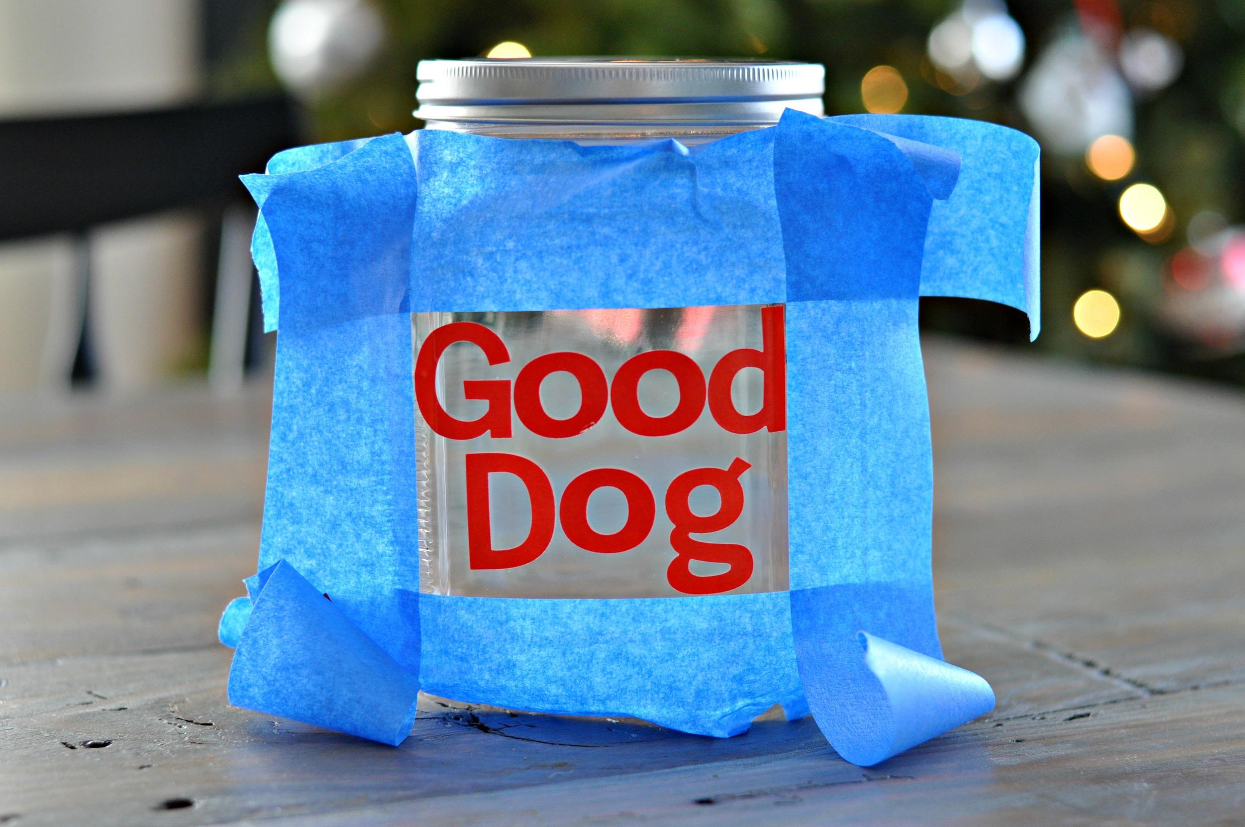 DIY Good Dog Treat Jar