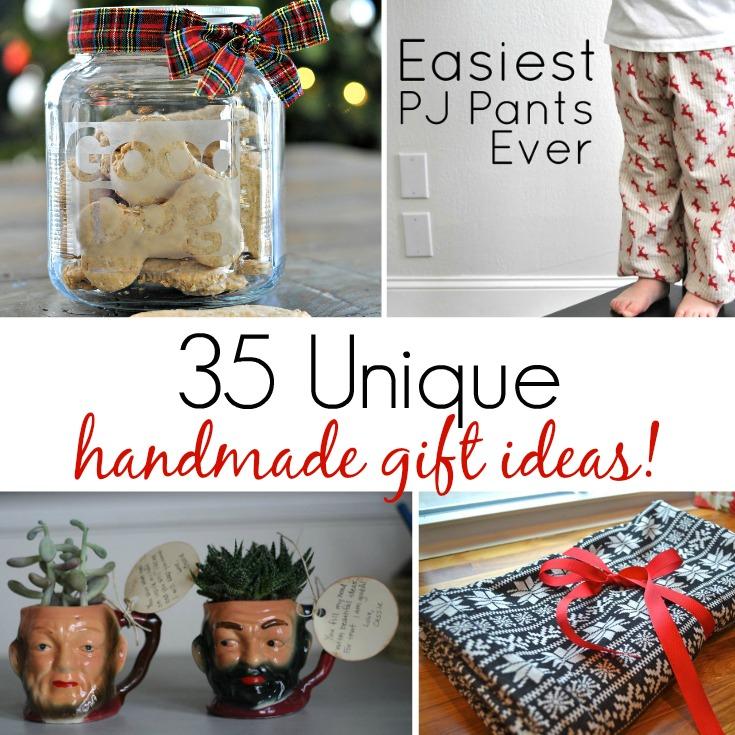 35 Unique Handmade Gift Ideas!