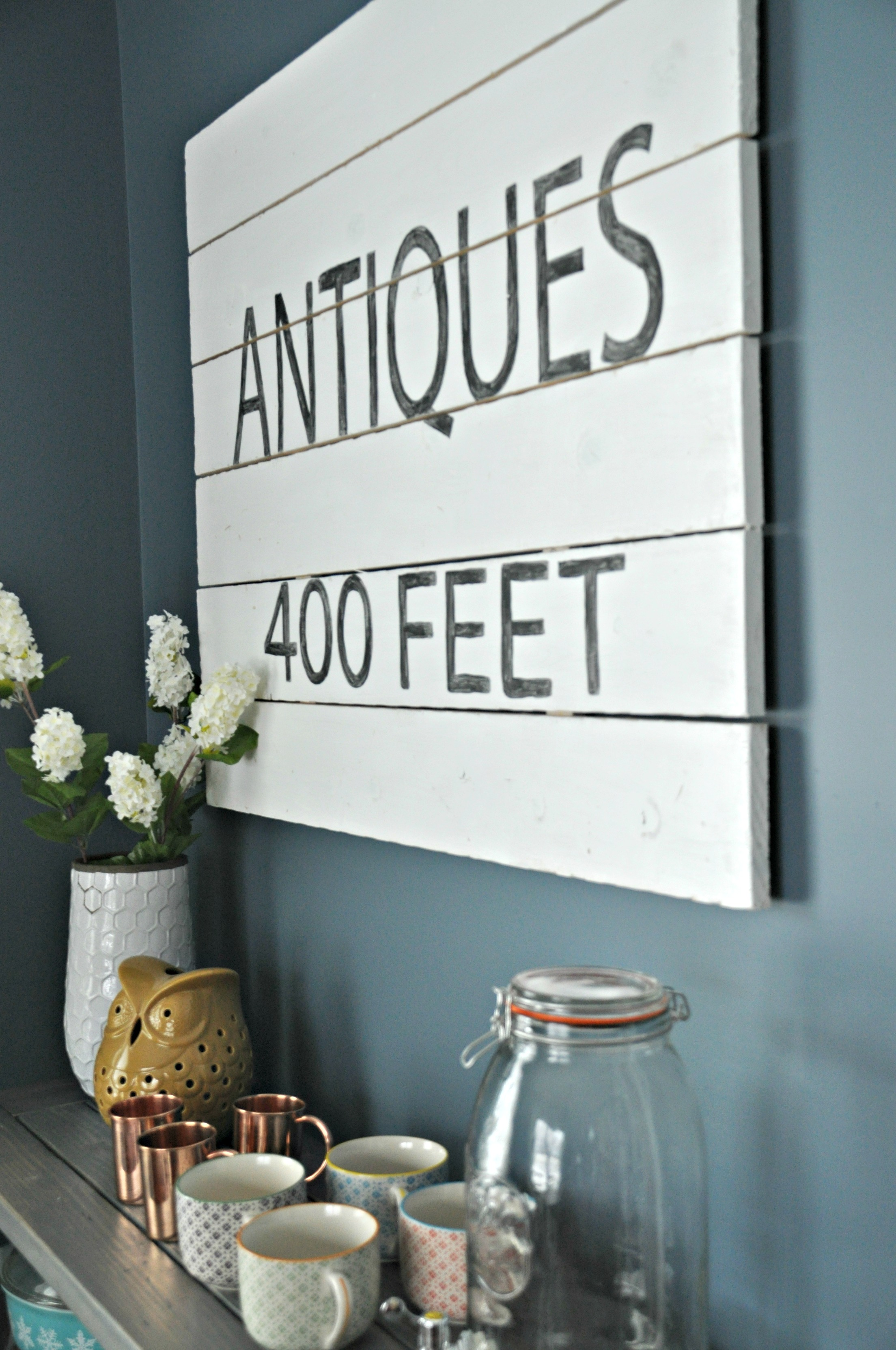 Antique Sign DIY Tutorial {Decor and the Dog}