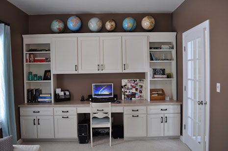 Office Built-ins SW Fawn Brindle   Decor and the Dog