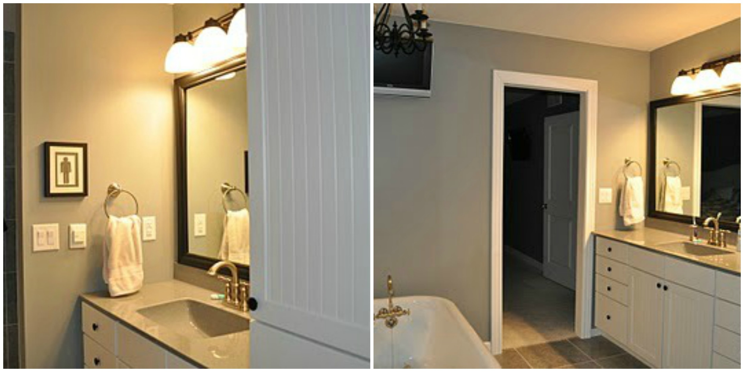 Then and Now- Master Bathroom | Decor and the Dog