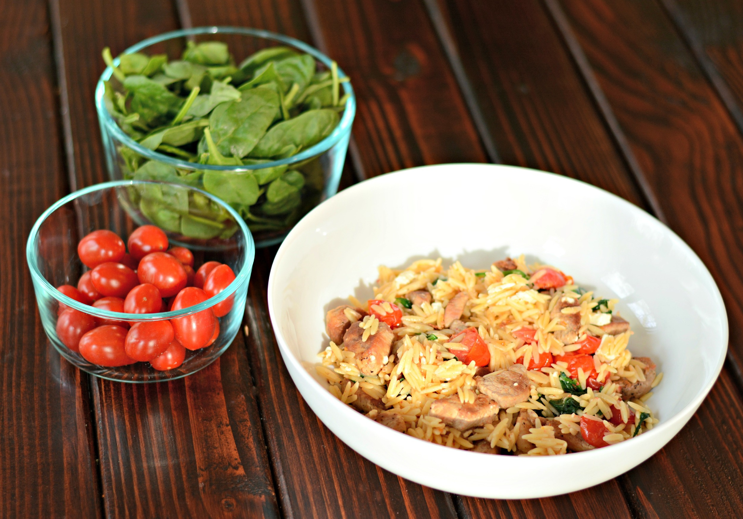 Mediterranean Pork and Orzo | Decor and the Dog