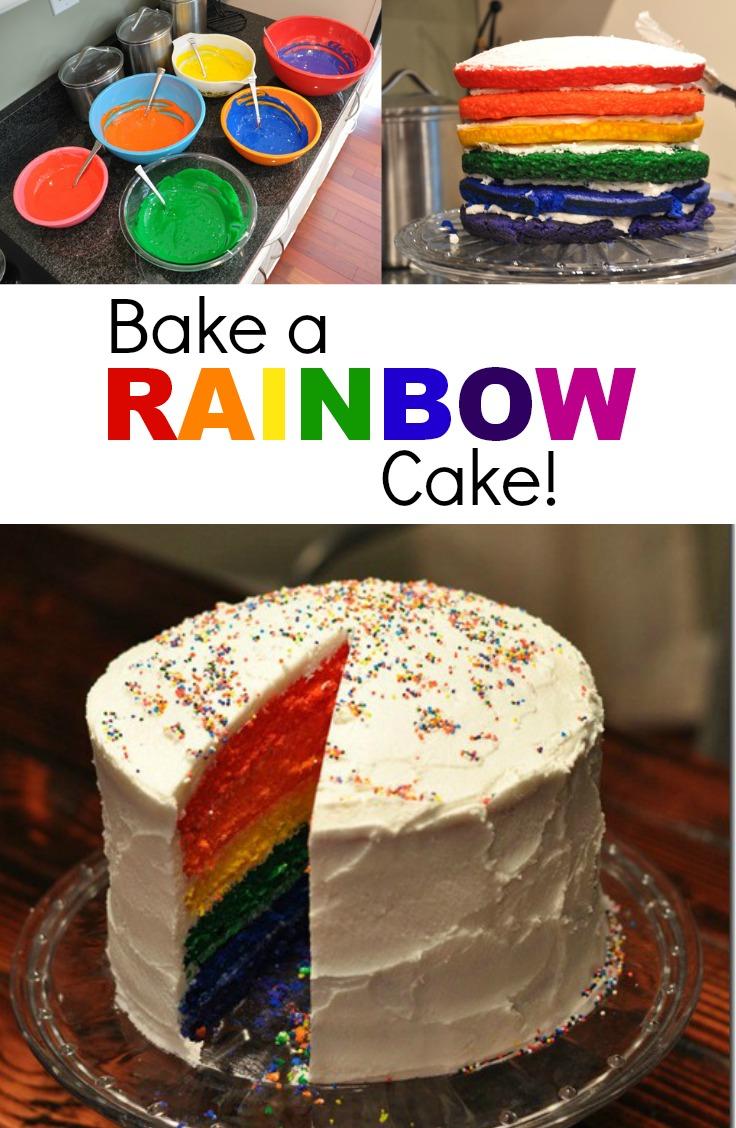 Bake a Rainbow Cake.  Learn how!