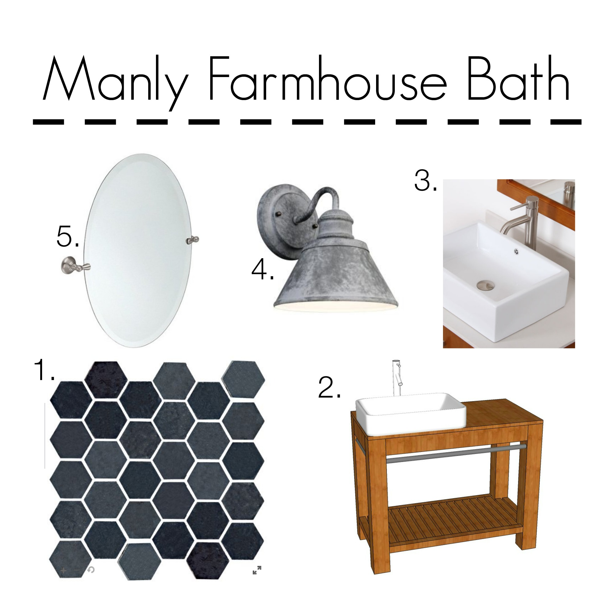 Brother's Master Bath | Decor and the Dog