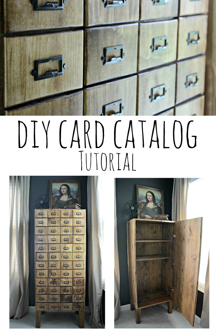 DIY Card Catalog Cabinet Tutorial.  Learn how to build your own! | Decor and the Dog