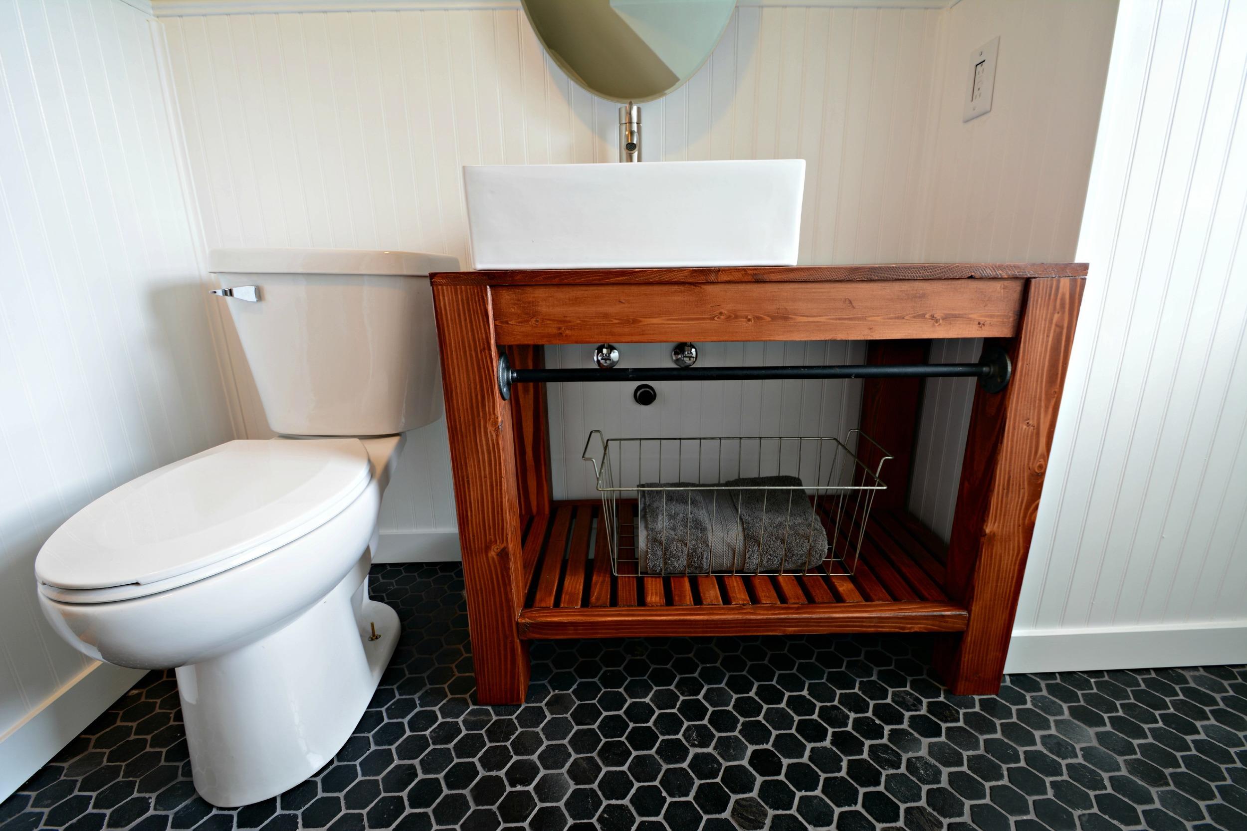 Modern Farmhouse Bathroom Vanity Tutorial | Decor and the Dog