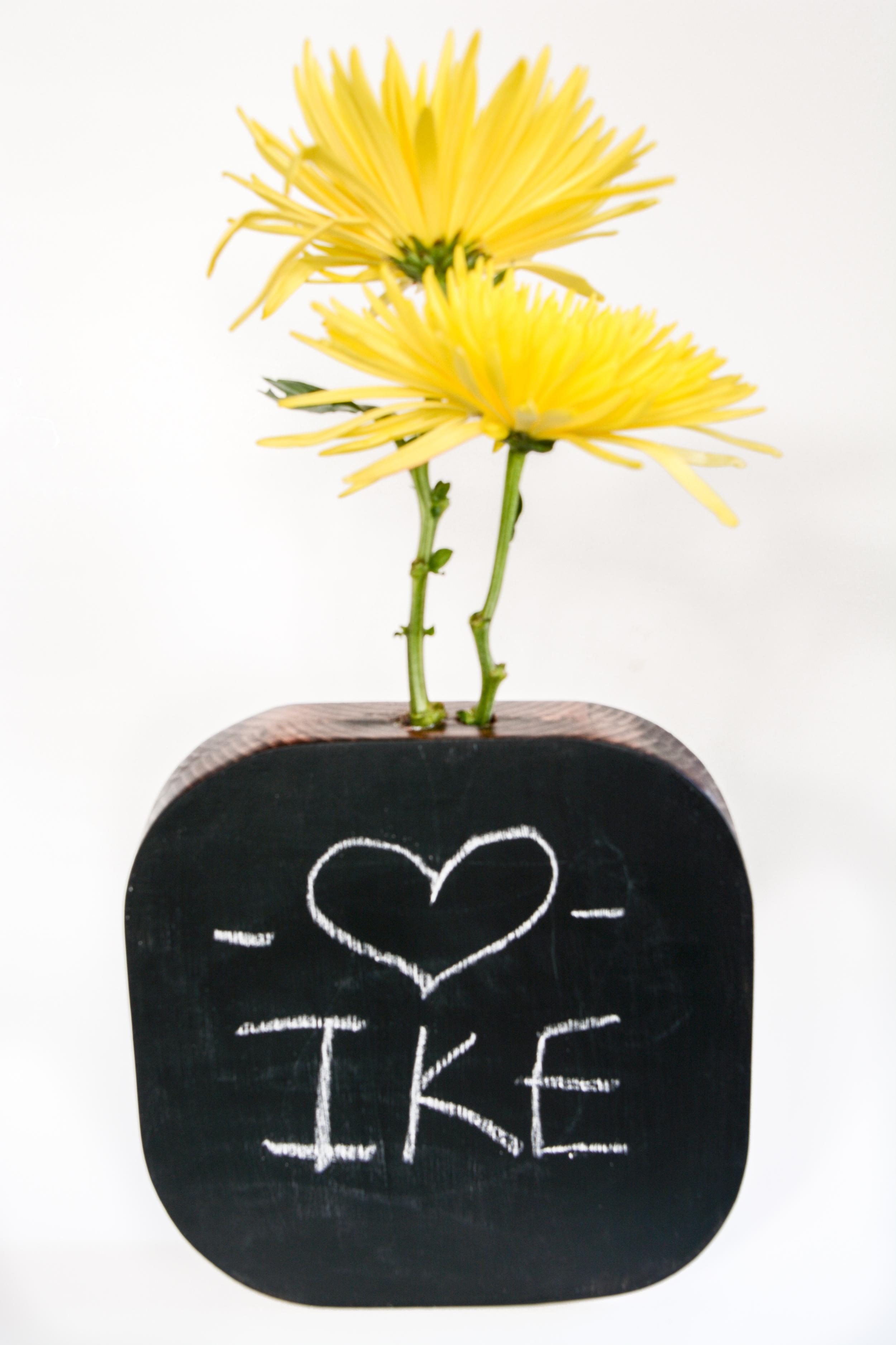 DIY Chalkboard Vase